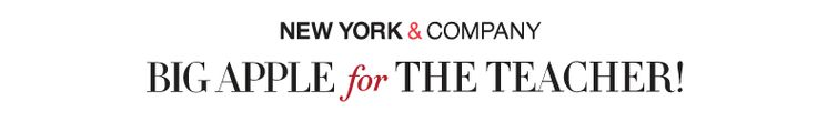 New York and Company:  15% off in-store purchases every day