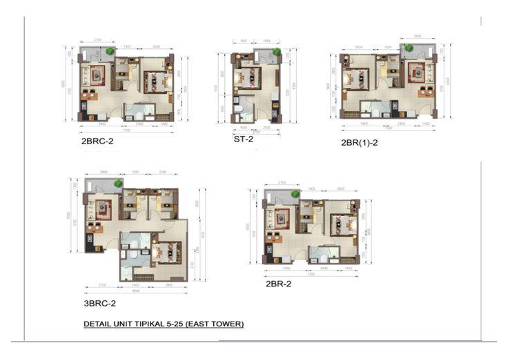 Tipe Unit Apartmen Skyline Residence Cawang