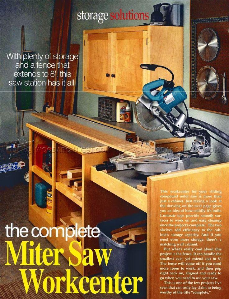 #2040 Miter Saw Workstation Plans - Miter Saw