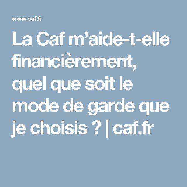 La Caf m'aide-t-elle financièrement, quel que soit le mode de garde que je choisis ? | caf.fr