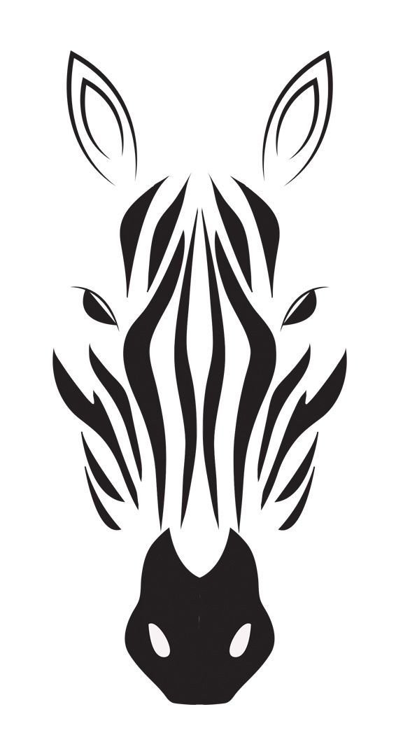 Zebra drawing in black white indulgy tats pinterest silhouettes stenciling and black