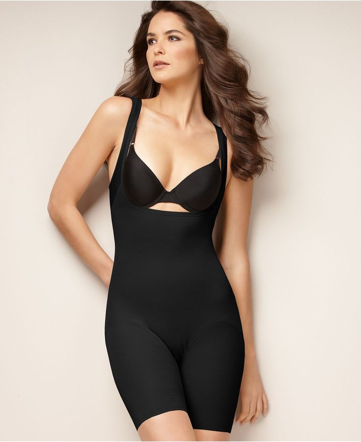 Naomi & Nicole Shapewear, Firm Control Unbelievable Comfort Long Leg Open Bust Body Shaper 7071 - Lingerie - Women - Macy's