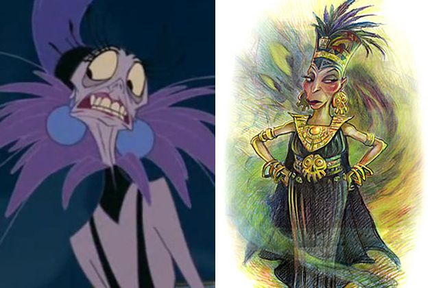 Concept Art for Disney's Yzma (from The Emperor's New Groove)