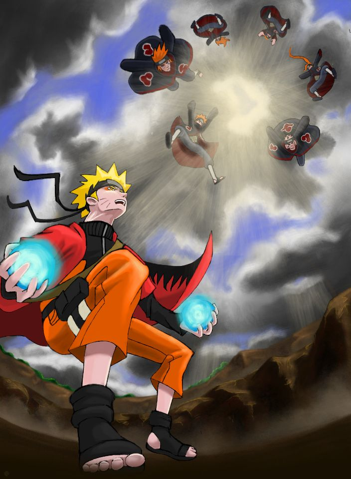Naruto vs. Pain by ~artjordanrhodes