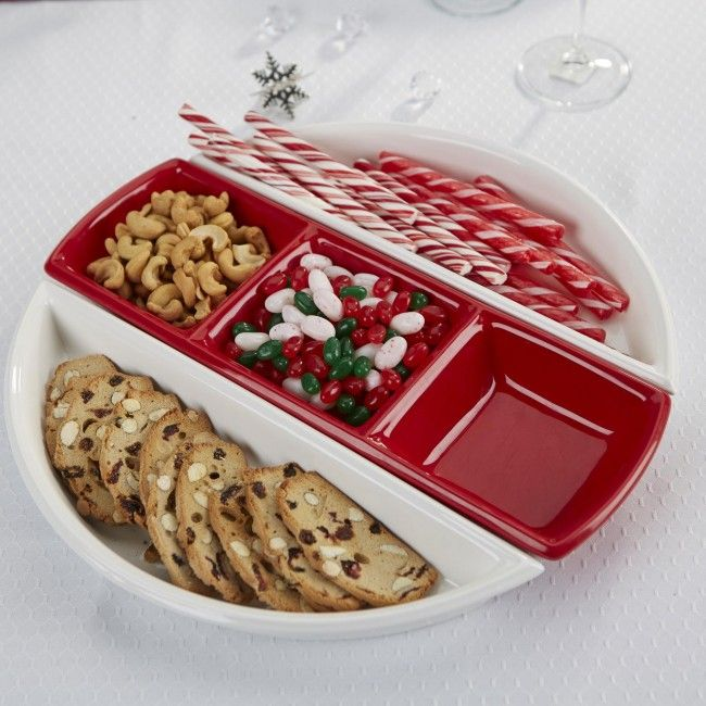 The three piece Host Serving Dish is a perfect way to serve snacks and appetizers this holiday season. Featuring three individual ceramic pieces, the Host Serving Dish is perfect for crackers, dip, fruit, veggies and anything else you can thing of to delight your guests.