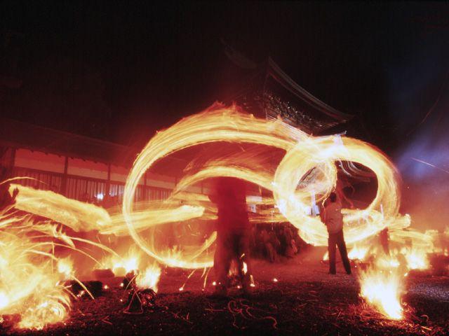 阿蘇の火祭り-阿蘇 Fire Festival, Aso Kumamoto, Japan
