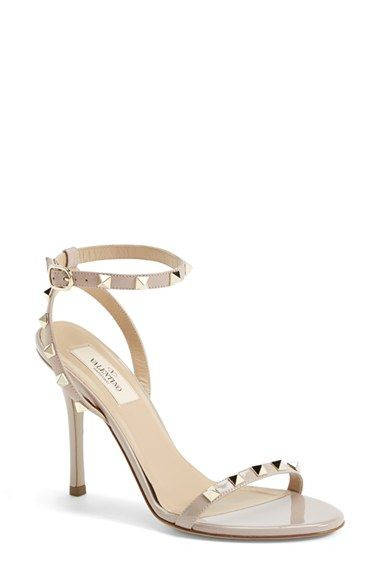 GIVE ME. Valentino 'Rockstud' Ankle Strap Sandal (Women) available at #Nordstrom