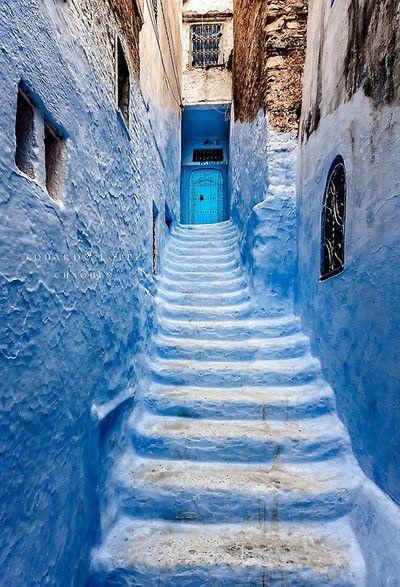 Chefchaouen | Morocco (by Eduardo Lopez)༺ ♠ ༻*ŦƶȠ*༺ ♠ ༻