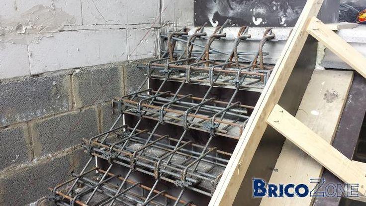 Best 25 coffrage escalier ideas on pinterest coffrage mezzanine design an - Escalier cremaillere beton ...