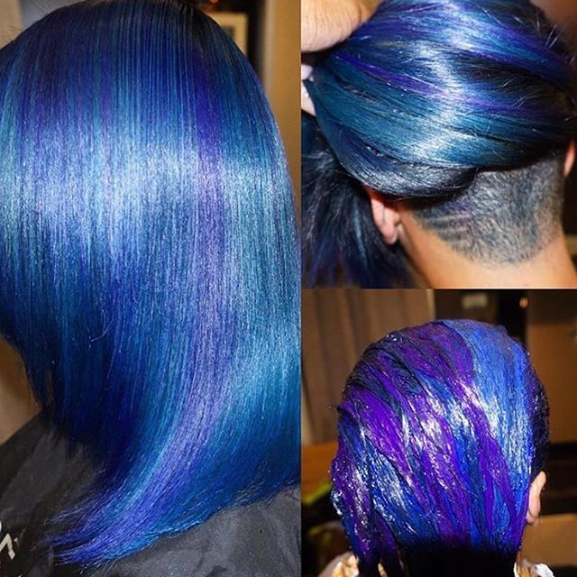 STYLIST FEATURE| Gorgeous #haircolor transformation by #FtLauderdaleStylist @keevahair Come through blue #voiceofhair