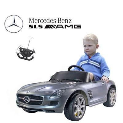 Mercedes SLS AMG Kids Electric Ride On Toy Car with Remote Control (Grey)