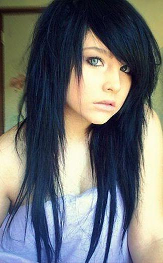 Long V Cut Choppy Hair | Beauty, Hair, Fashion U0026 Make Up. | Pinterest | Choppy  Hair, Haircuts And Emo Hair