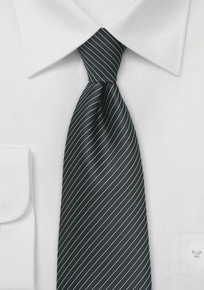 Krawatte tiefschwarz Lamellen-Streifen