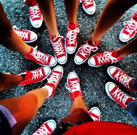 Converse! Every girl that goes to suttons bay should get these perfect for school spirit day