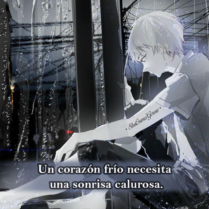Un corazón frió. #ShuOumaGcrow #Anime #Frases_anime #frases