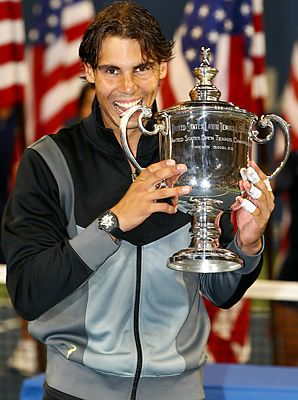 Simply the best. Rafael Nadal.  My all time favorite! Well kinda! I can't pick! But anyways, injured for the 2012 US Open =[. Feel better Rafael! One day, I'll see you in person (hopefully)