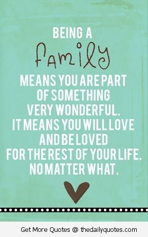 Families, Sayings about family and About family on Pinterest