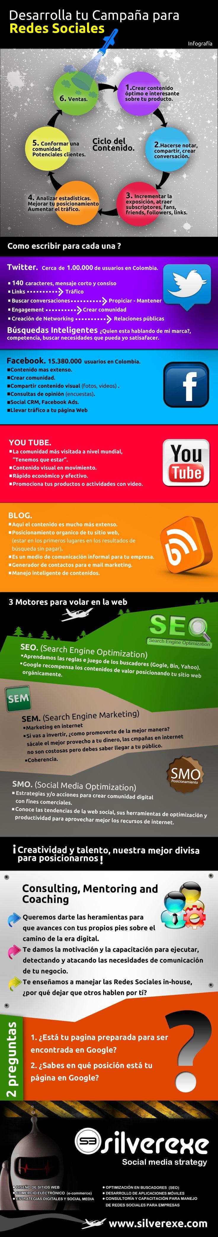 Desarrolla tu campaña en redes Sociales #infografia