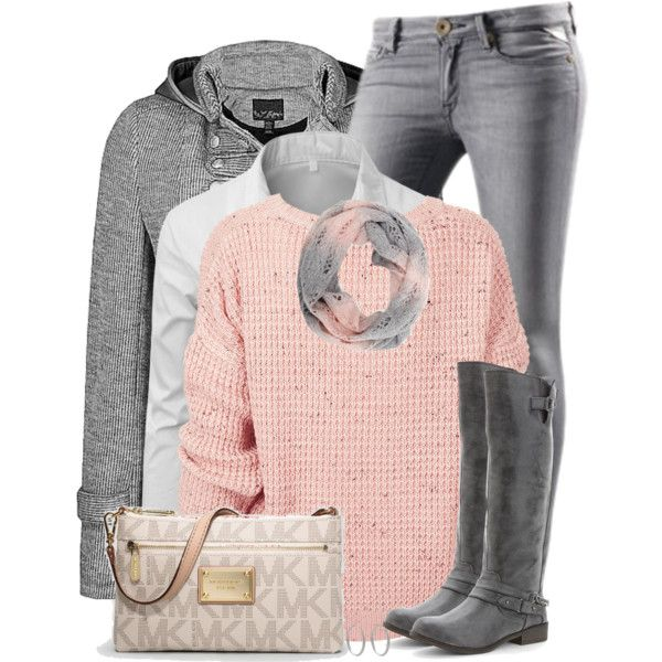 """""""Gray Jeans"""" by daiscat on Polyvore"""