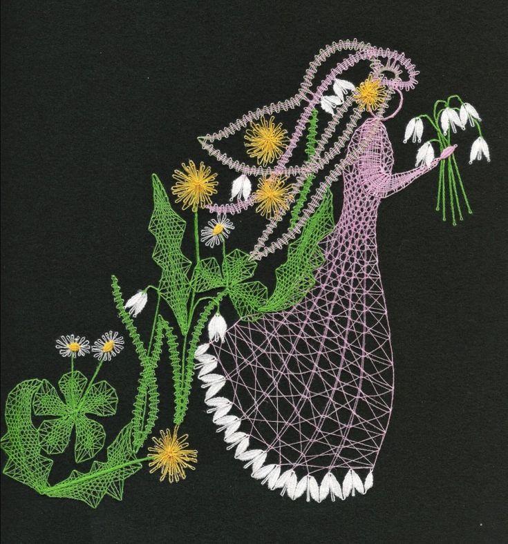 Roční období - jaro(20 cm x 23 cm)