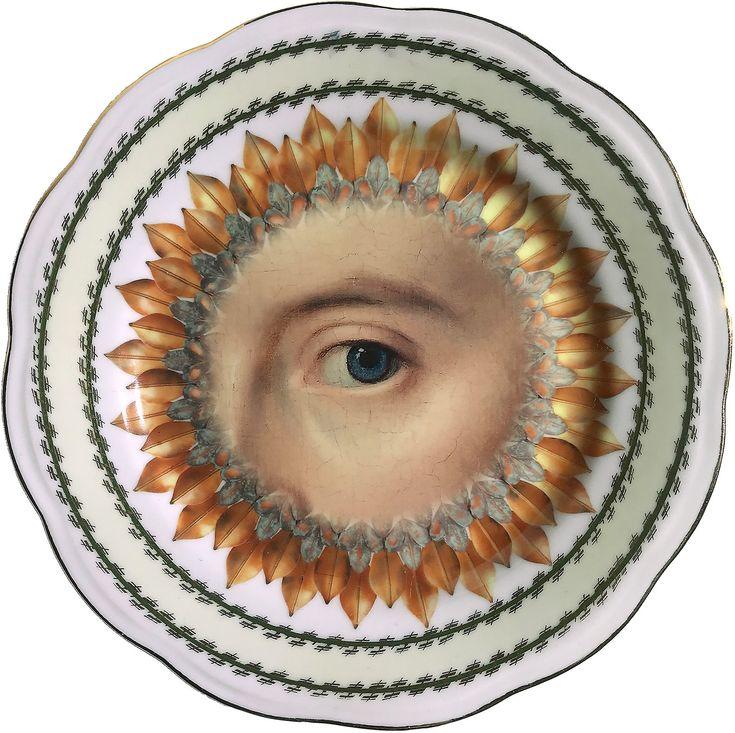 Lover's Eye - Blue - Burst - Vintage Fine Bone China - #0581 by ArtefactoStore on Etsy
