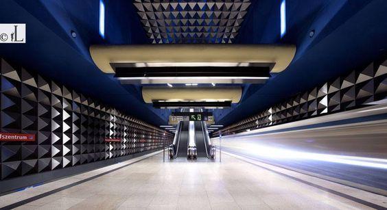 """Underground station """"Olympia-Einkaufszentrum"""""""