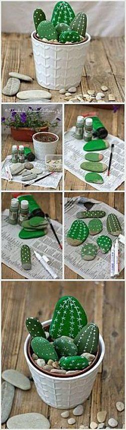 #DIY Faux Cactus Arrangement