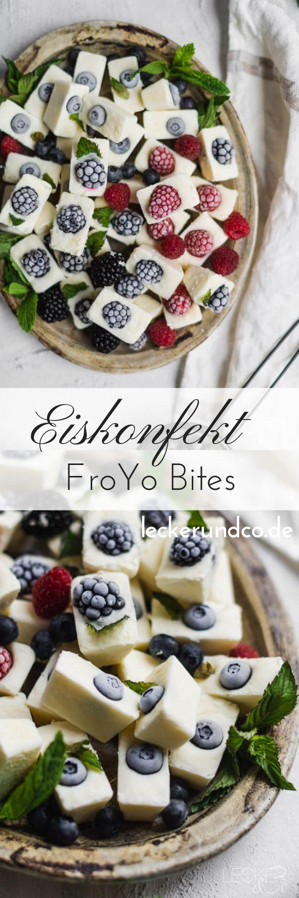 Eiscreme – Süßwaren FroYo Bites mit Beeren   – A+++ Best of Blogger