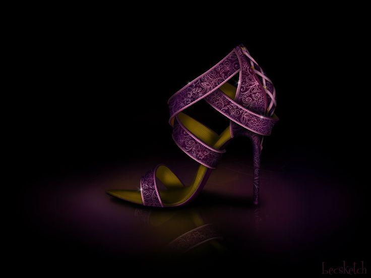 Lindo!  Sapato inspirado na Rapunzel.
