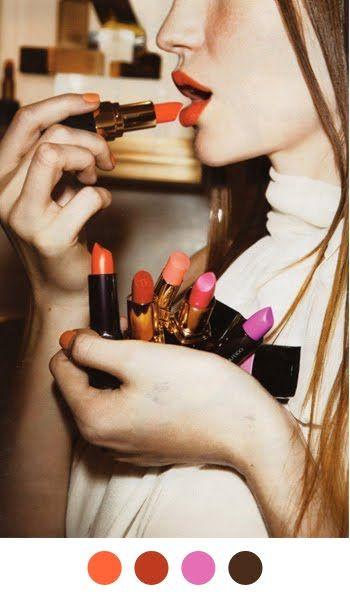 .: Lipsticks, Makeup, Beauty, Bright Lips, Hair