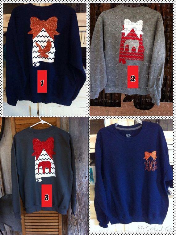 Collegiate heat pressed vinyl sweatshirts