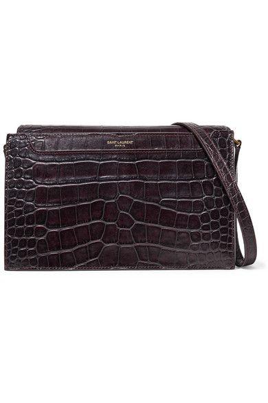 061efcf2ee SAINT LAURENT Catherine croc-effect leather shoulder bag
