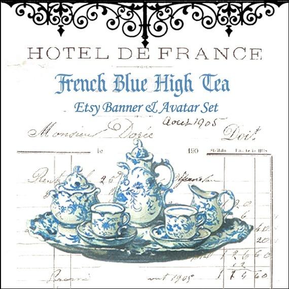 french blue high tea