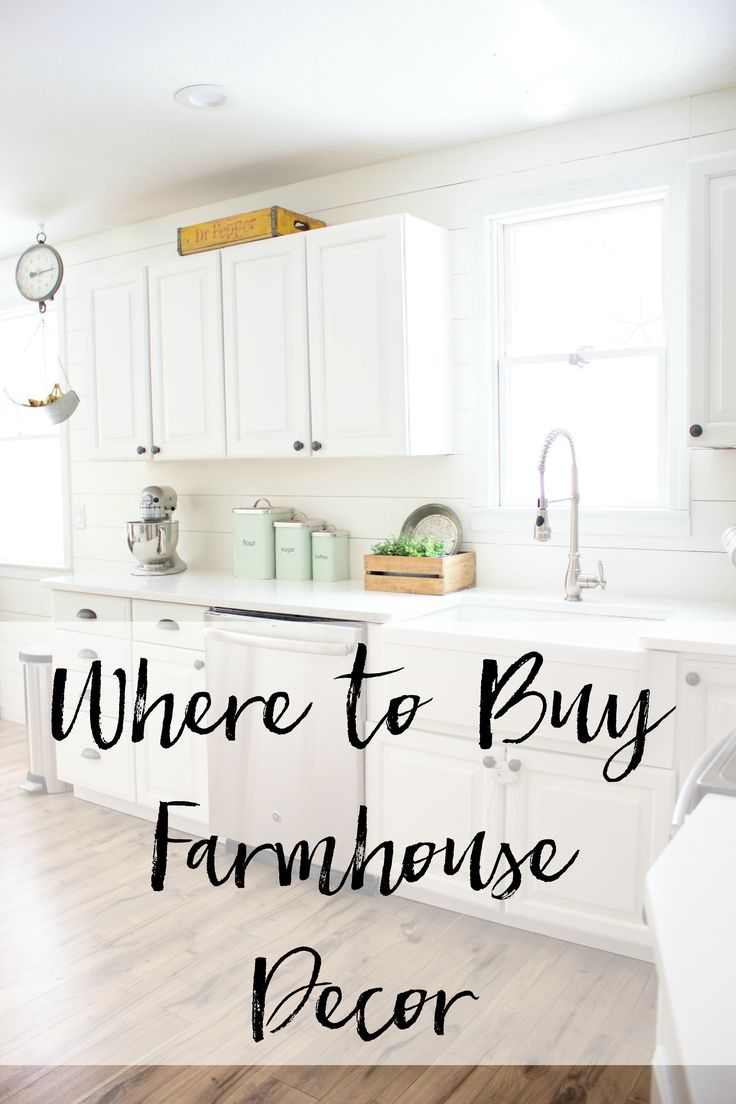 A List Of Shops Of Where To Buy Farmhouse Decor Items For Your Home