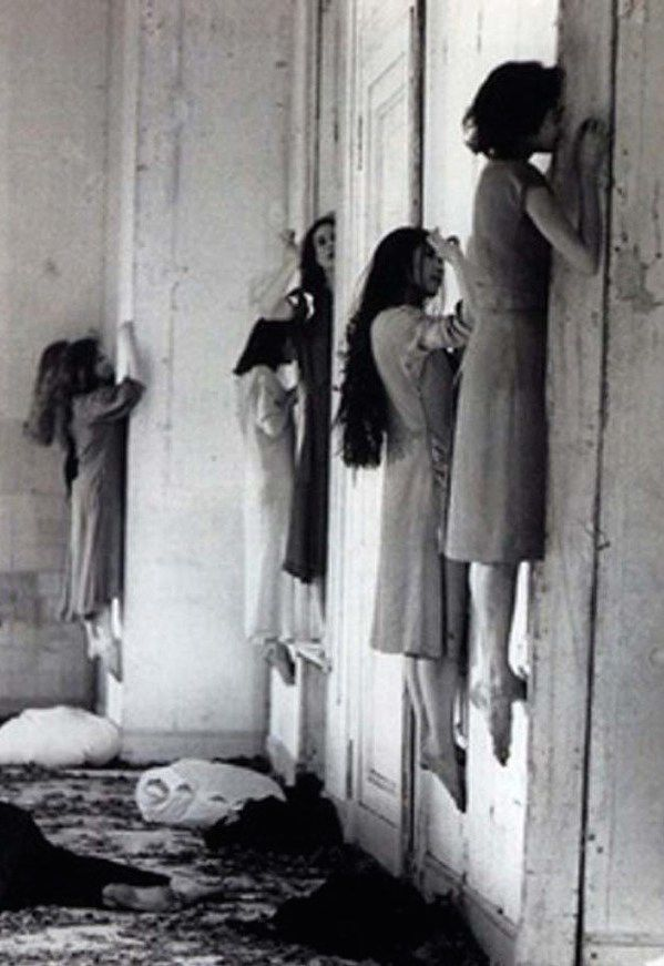 Vintage Creepy Old Photos floating girls