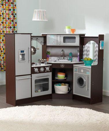 Look at this #zulilyfind! Espresso Ultimate Corner Play Kitchen #zulilyfinds