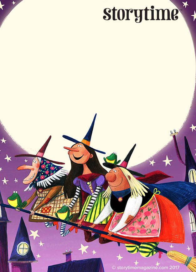 Meet Three Little Witches in Storytime Issue 38 – a story by Polly Owen and illustrated by Kathryn Durst (http://www.kathryndurst.com). Perfect for Halloween! ~ STORYTIMEMAGAZINE.COM