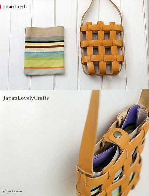 CLOTH AND LEATHER BAG - JAPANESE SEWING PATTERNS BOOK FOR BAGS - HEART WARMING LIFE SERIES 18 by JapanLovelyCrafts, via Flickr
