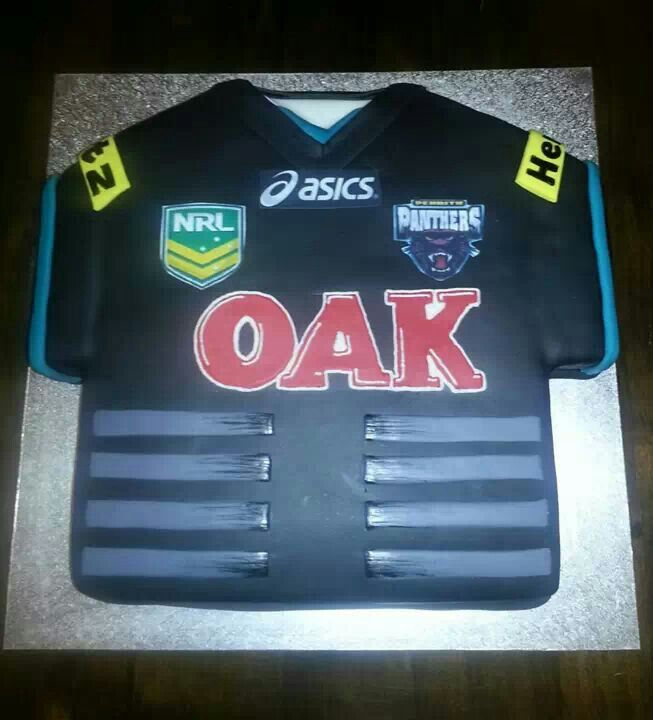 Cake Decorating Penrith : Panthers jersey cake by Halina Sialeipata Penrith.N.S.W Pinterest Panthers, Jersey and Cakes