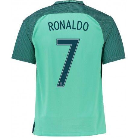 Maillot Portugal RONALDO  2016/2017  Officiel EURO 2016 Extérieur. Flocages Personnalisés Disponibles.