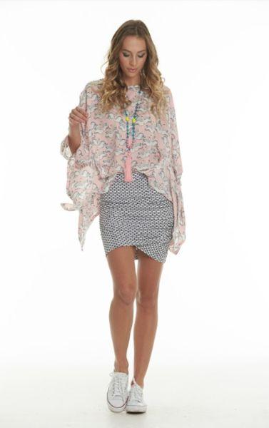 Charlo Meow Skirt White Brick (Short)