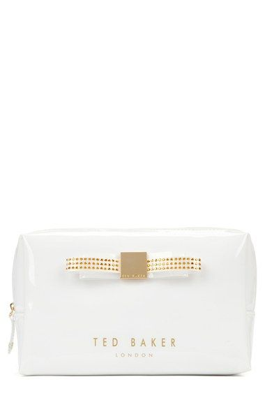 Ted Baker London 'Large Jewel Bow' Cosmetics Case available at #Nordstrom
