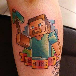 Minecraft Tattoo Ideas, Photos
