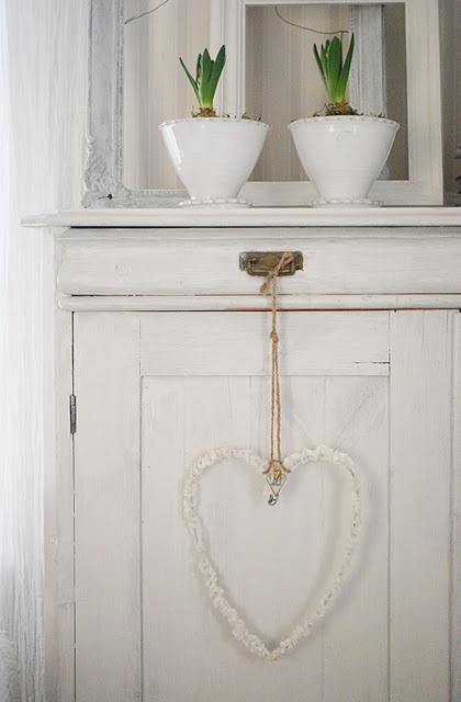 ♡ Your Heart is Mine, Valentine ♡  simple french country heart