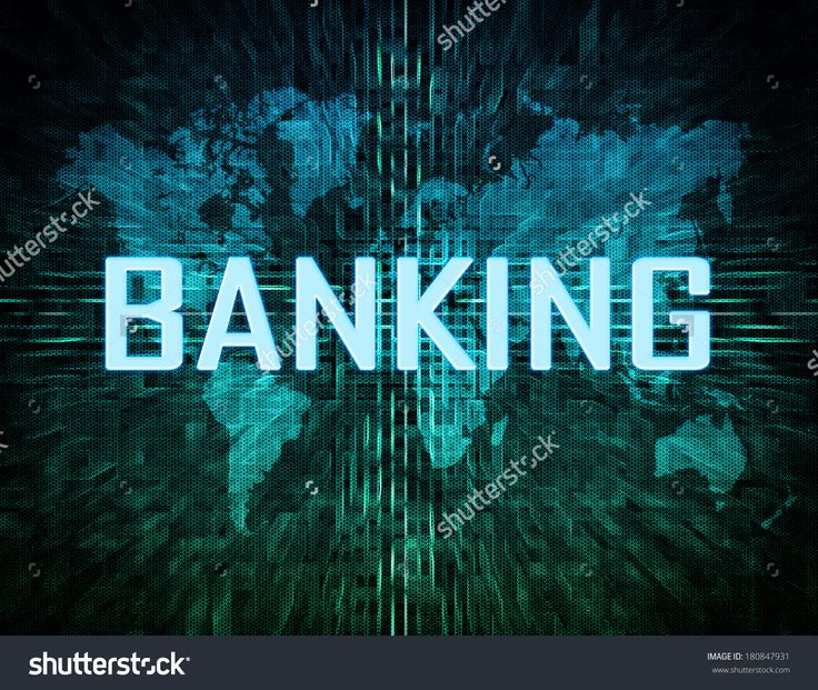 Banking Text Concept On Green Digital World Map Background Stockfoto 180847931 : Shutterstock