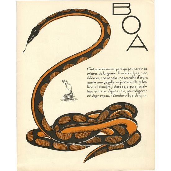 Snake Giclee, Art Deco Illustration #huntersalley