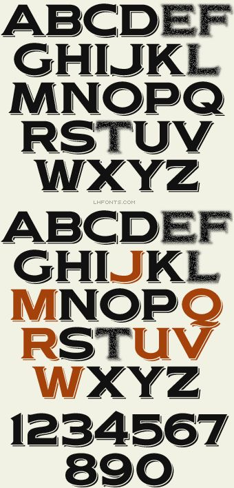 Letterhead Fonts / Woodmere / Western Fonts