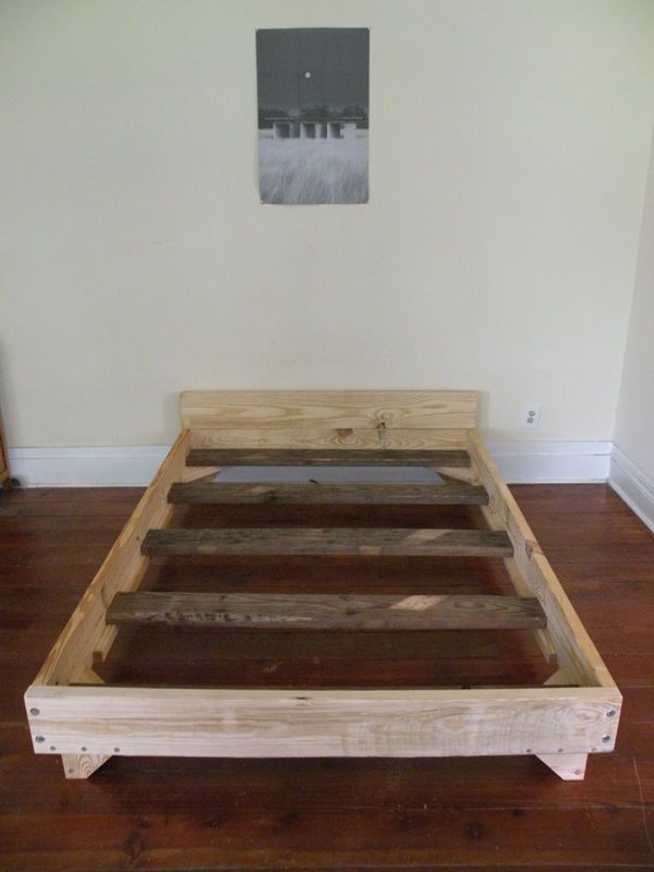1000 ideas about diy bed frame on pinterest diy bed for Simple bed diy