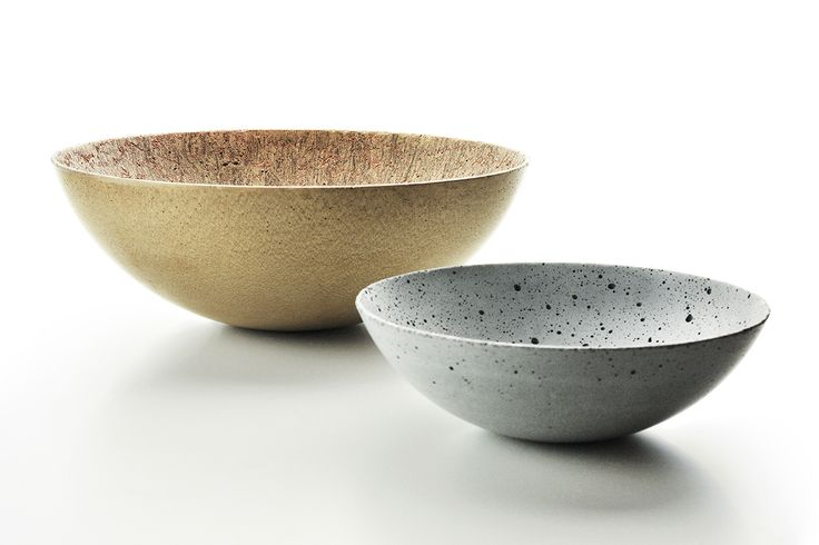 Concrete decorative bowls by Gravelli. 3 sizes, 4 color variants.