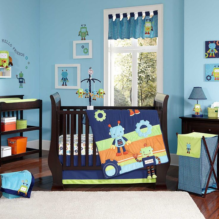 Nojo Baby Bots Nursery Collection